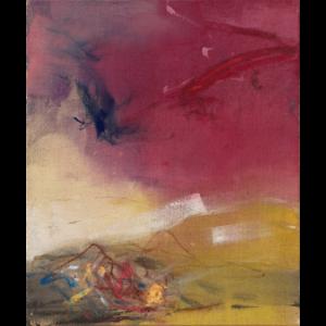 Leiko Ikemura, CRN Act, 2020, tempera su juta, 120 x 100 cm