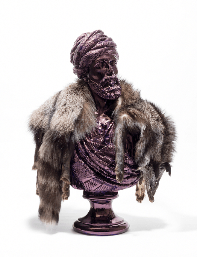 Jan Fabre, Wise Persian Looking Right (Silver Fox)
